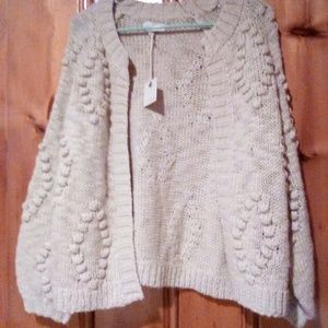 NWT Lucky Brand Bobble Cardigan